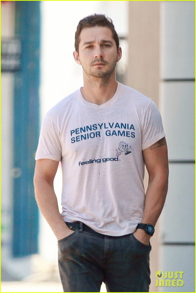 shia labeouf is feeling good en route to the gym 01