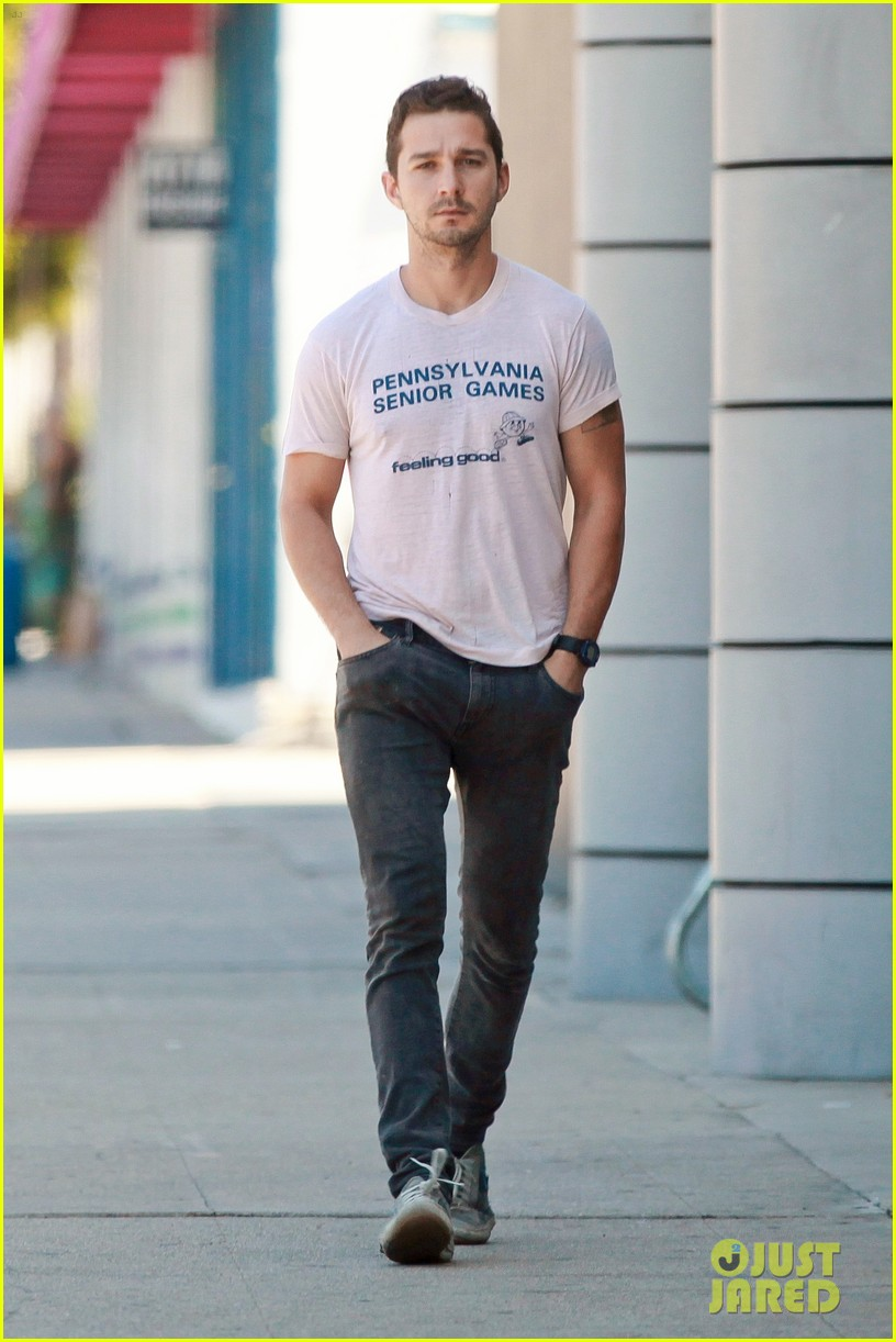 shia labeouf is feeling good en route to the gym 02