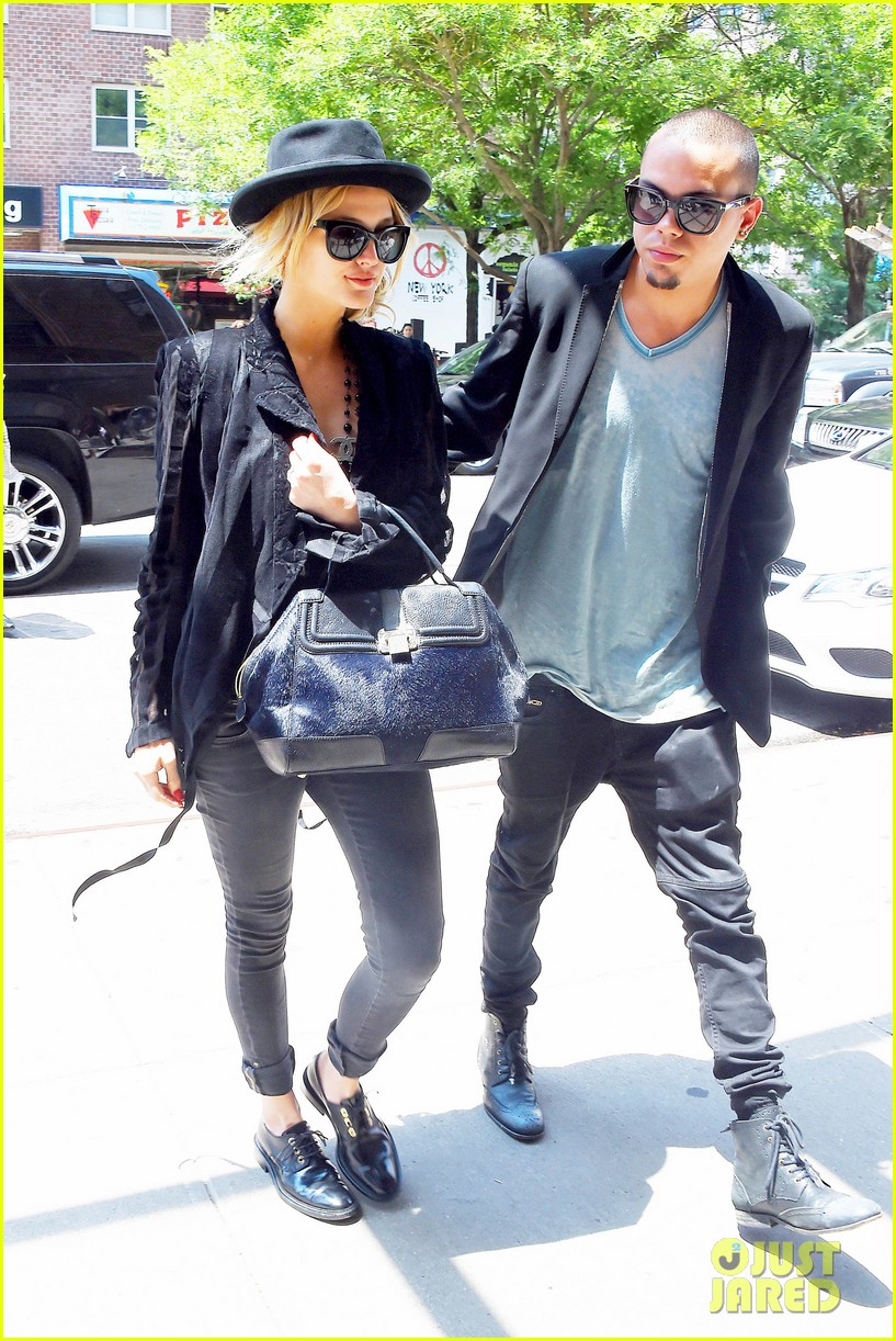 ashlee simpson evan ross say goodbye to new york city 053143899