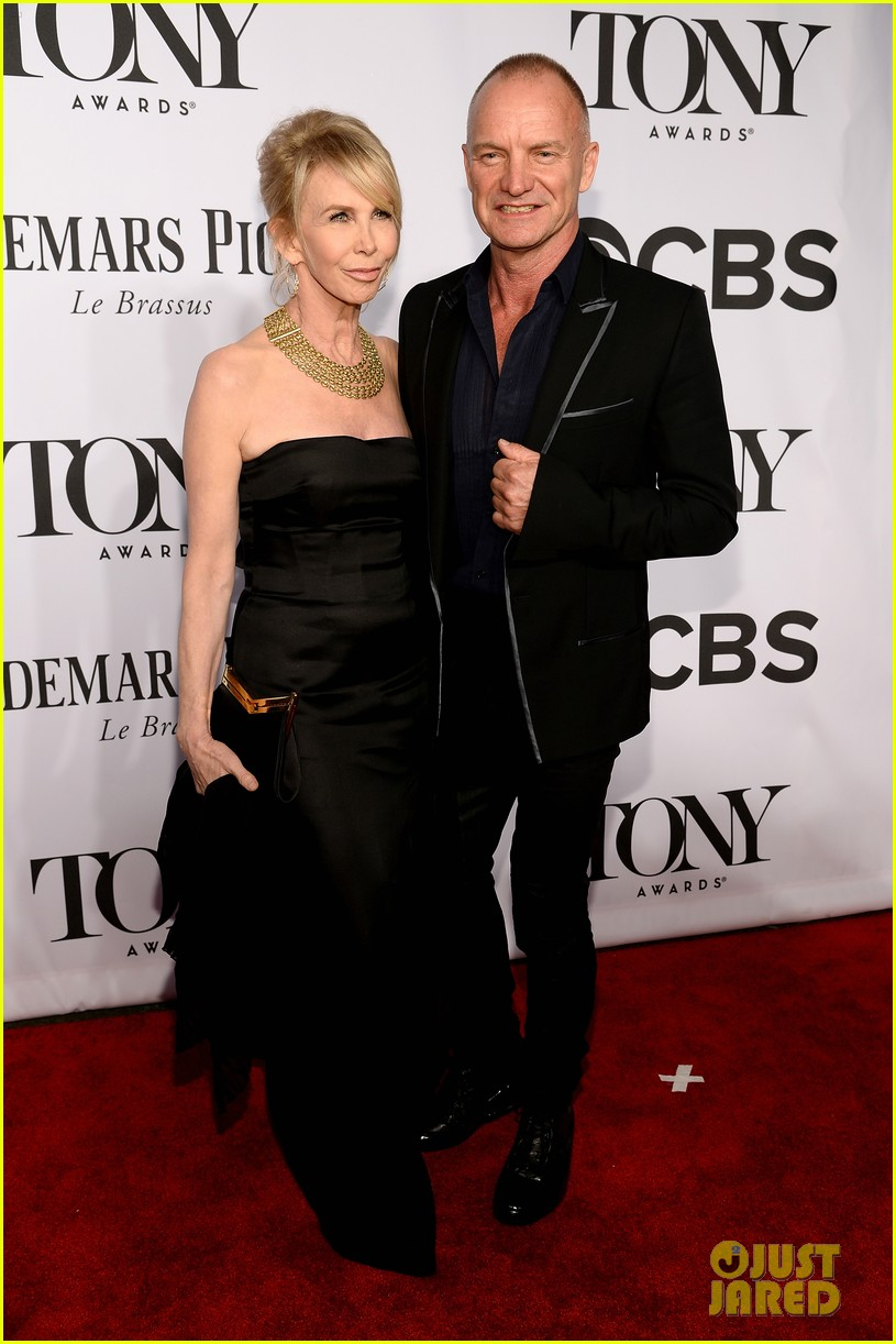 sting brings wife trudie styler to tony awards 2014 03