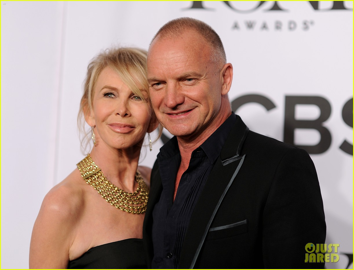 sting brings wife trudie styler to tony awards 2014 05