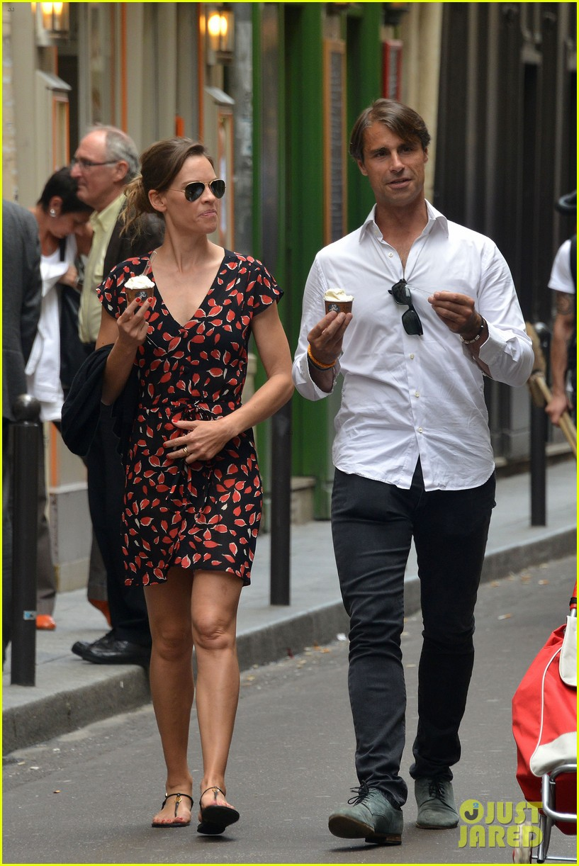 hilary swank boyfriend laurent fleury cool down glace 033134425