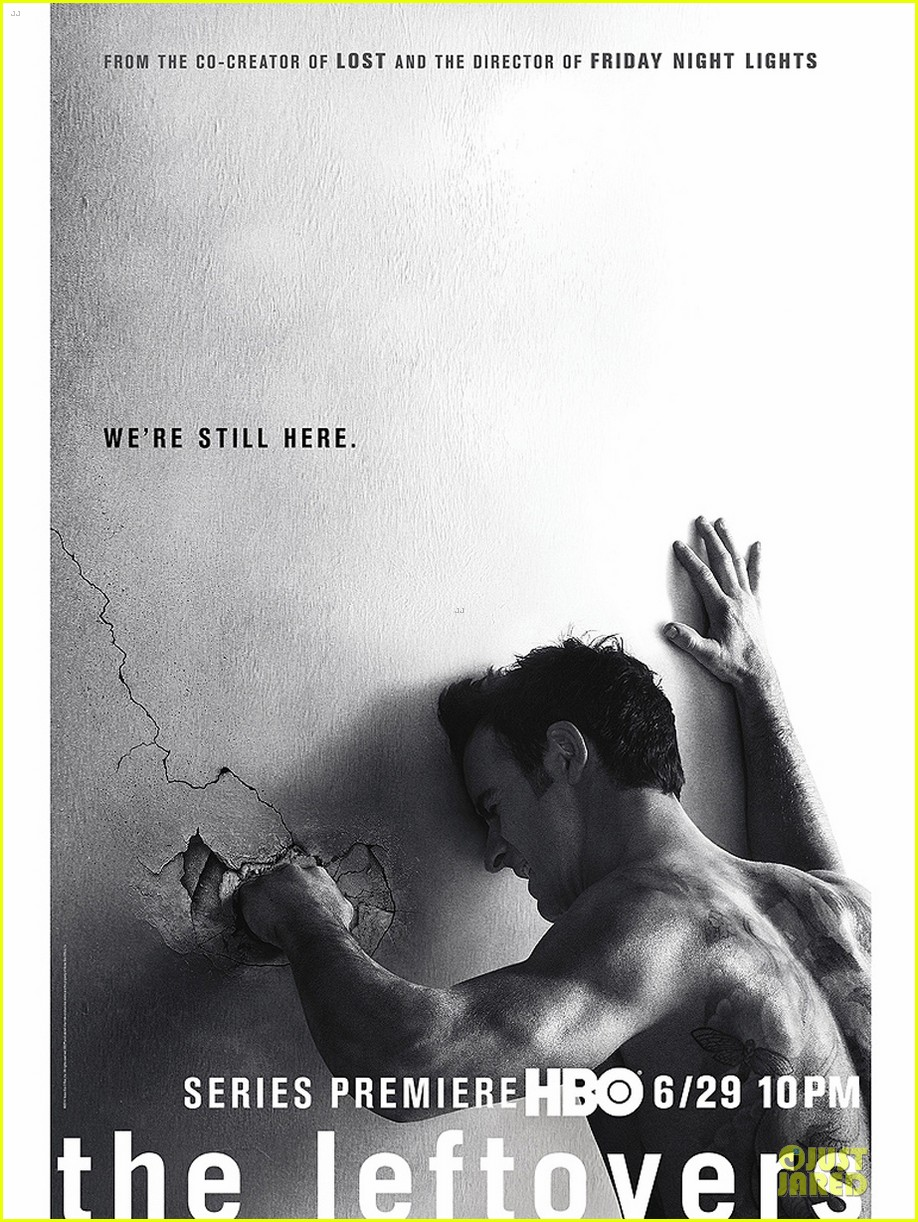 justin theroux punches wall for leftovers poster 123130123