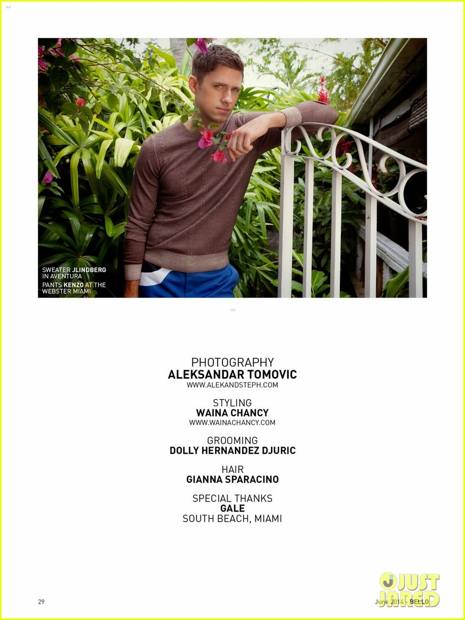 aaron tveit bello magazine 093126712