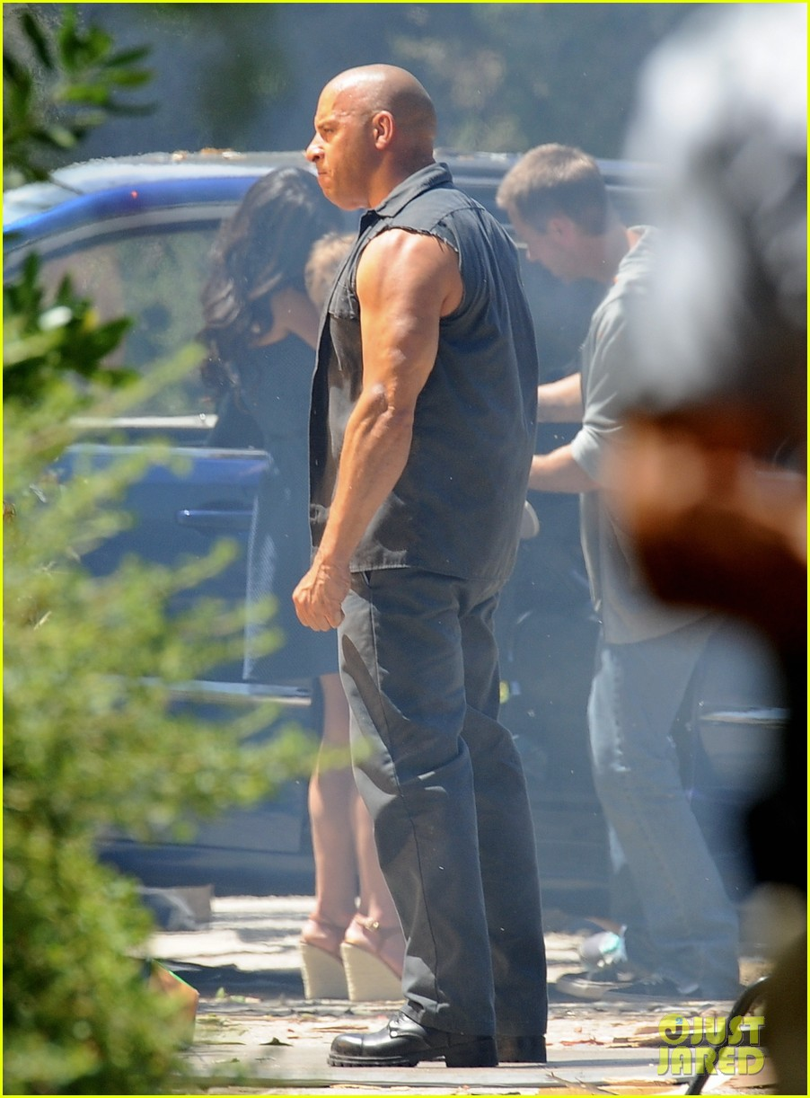 vin diesel does some fiery stunt work for fast furious 7 11