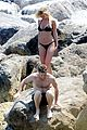 sam worthington lara bingle get handsy pack on the pda on beach 07