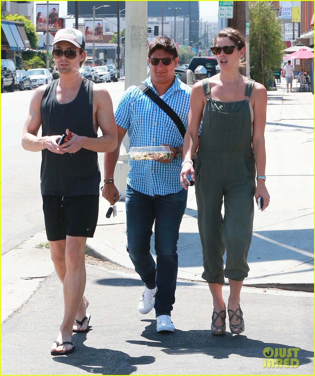 ashley greene wears overalls lunch 11