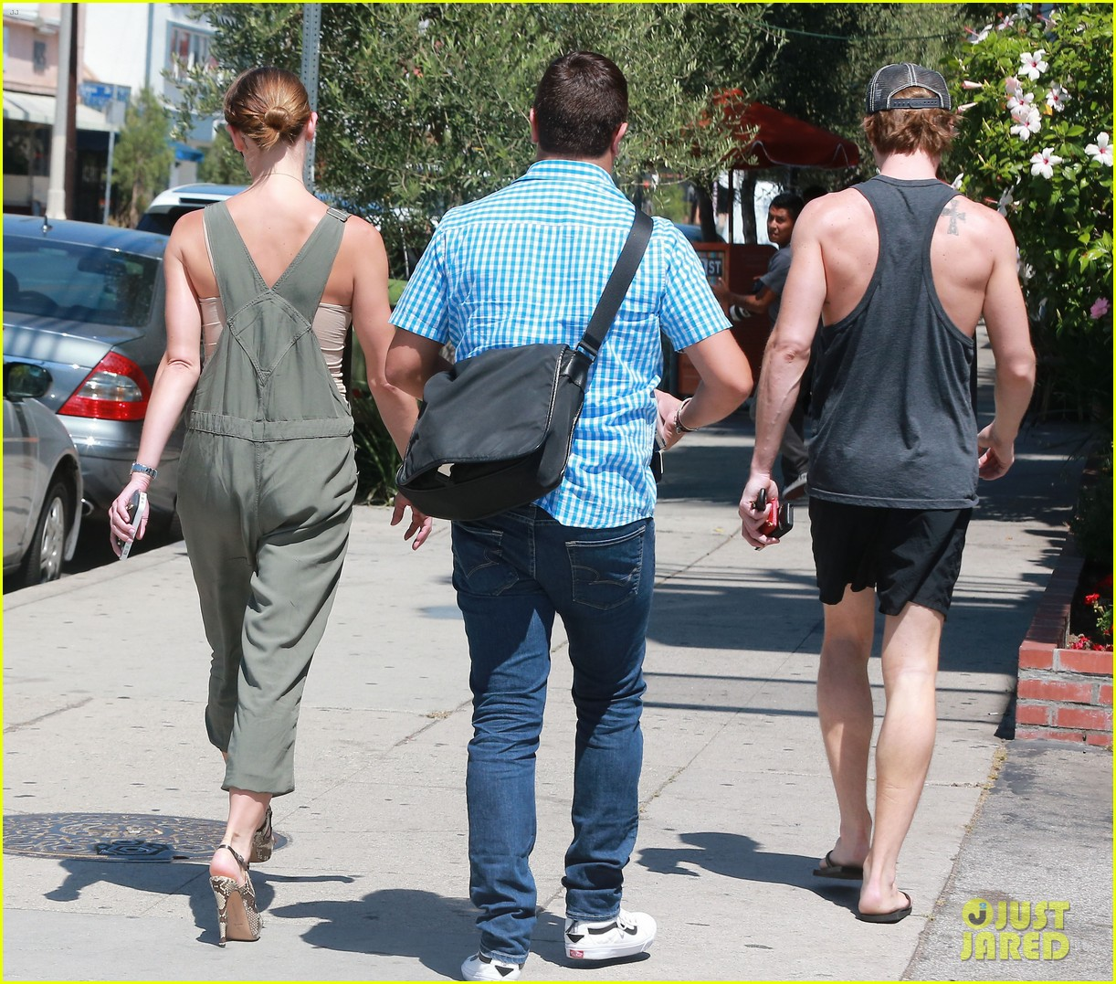 ashley greene wears overalls lunch 233151333