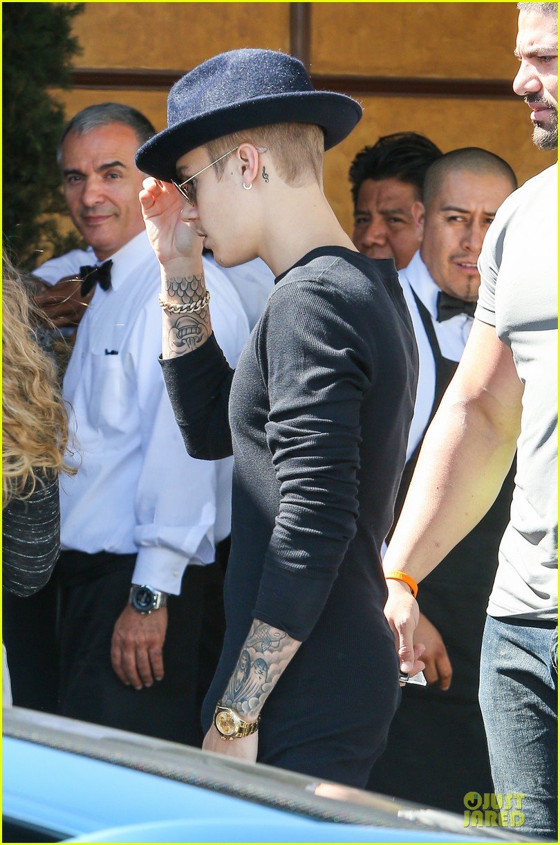 justin bieber yovanna ventura step out for lunch 133151927