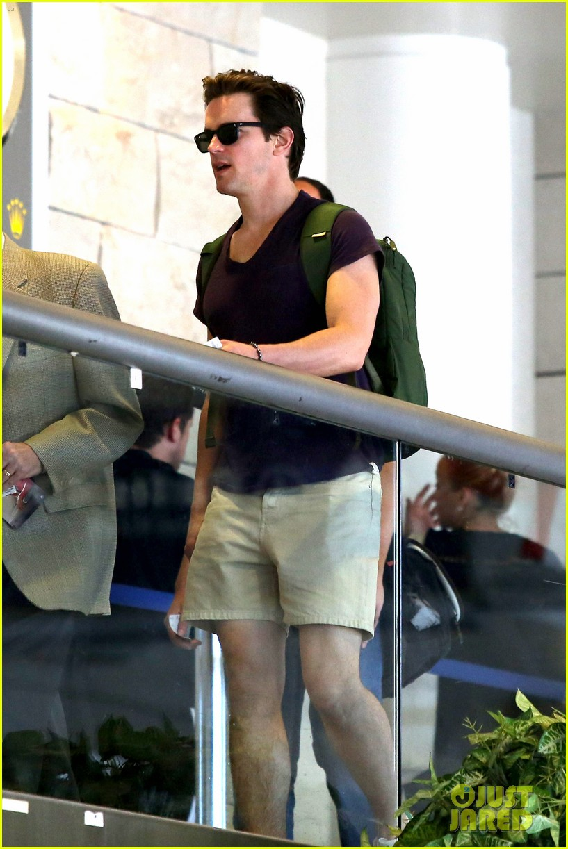 matt bomer wears short shorts at the airport 06