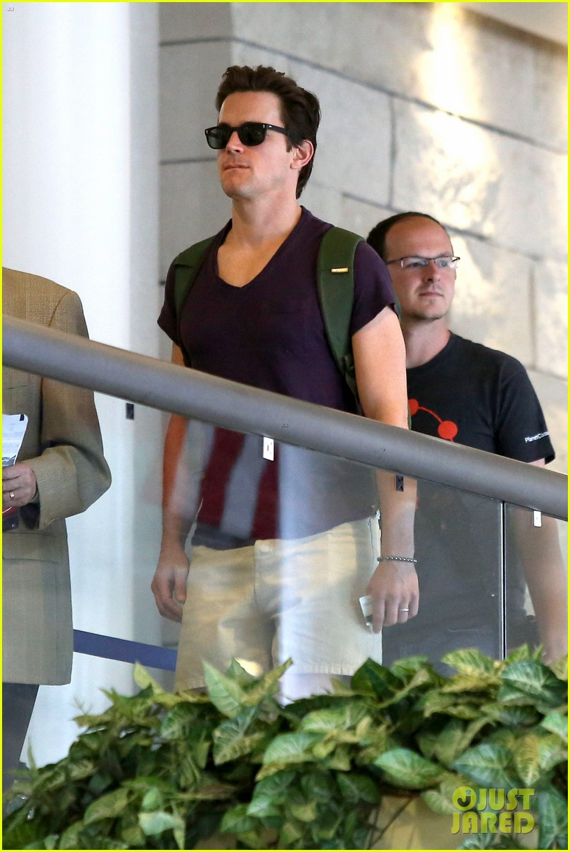 matt bomer wears short shorts at the airport 07