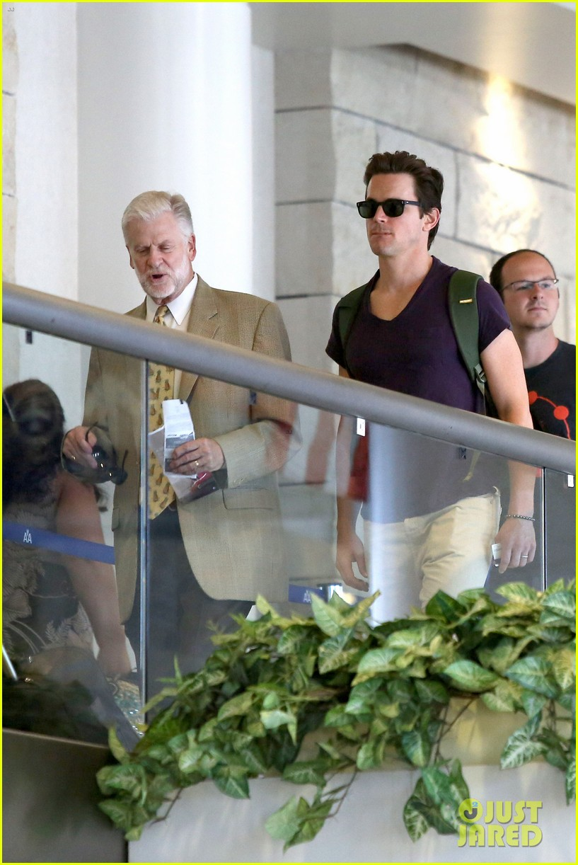 matt bomer wears short shorts at the airport 113150555