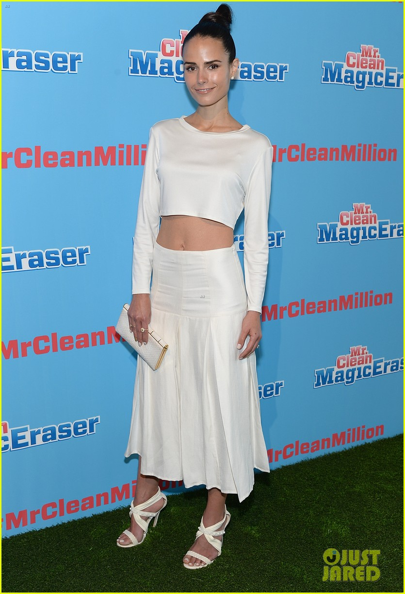 jordana brewster supports brad goreski at the mr clean summer fashion party 013148238