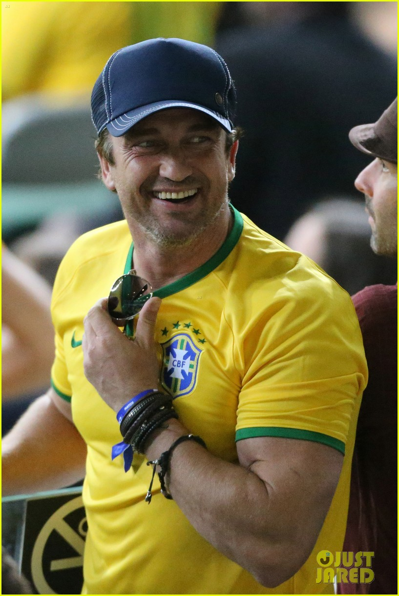 gerard butler taylor kitsch watch brazils massive defeat against germany 043152290