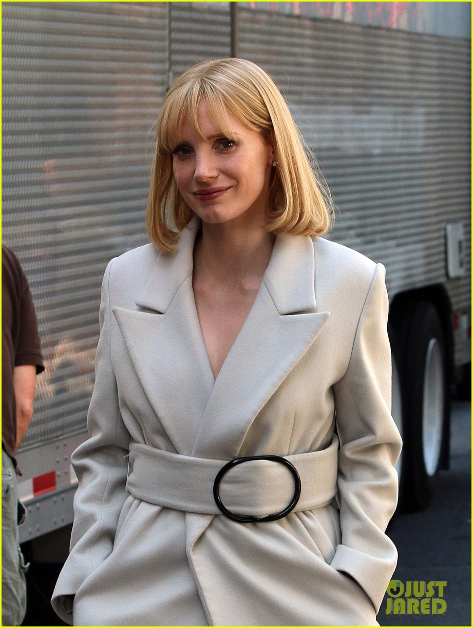 jessica chastain gets into character for a most violent year 023152472