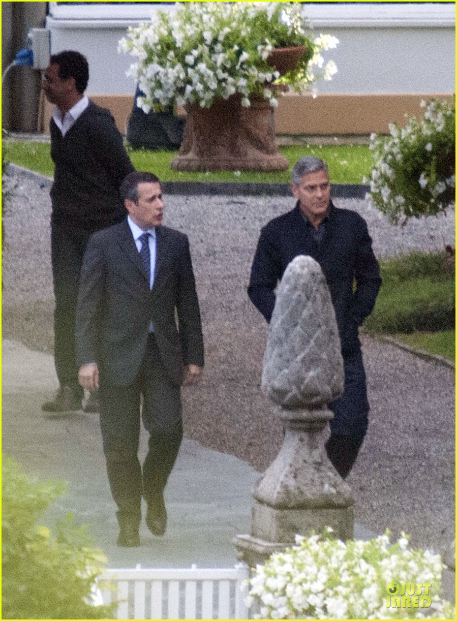 george clooney grant heslov meet up in italy 09