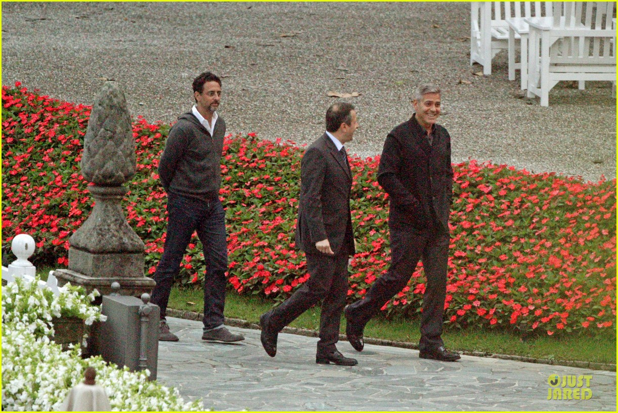 george clooney grant heslov meet up in italy 10