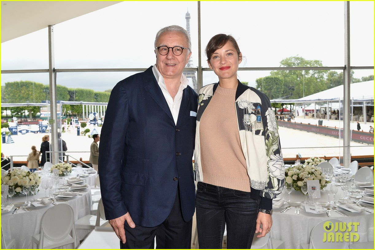 marion cotillard continues to support her horse jumping man 113150373