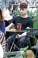 daniel radcliffe dog walker trainwreck nyc set 15