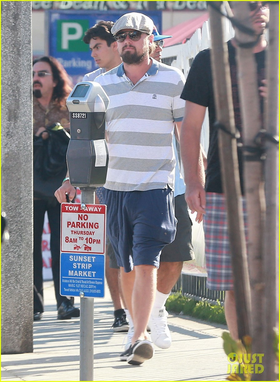 leonardo dicaprio sports scruffy beard 013153368
