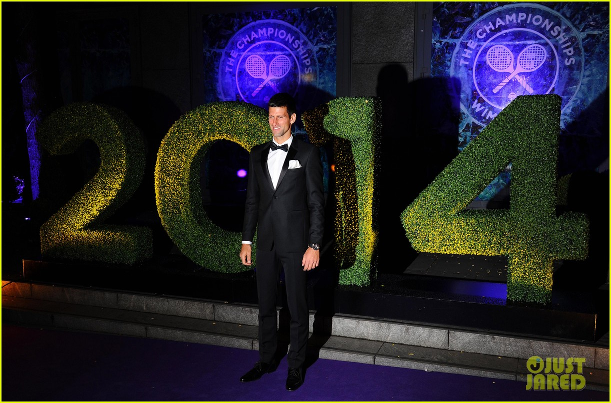 novak djokovic celebrates win at wimbledon championships winners ball 2014 09
