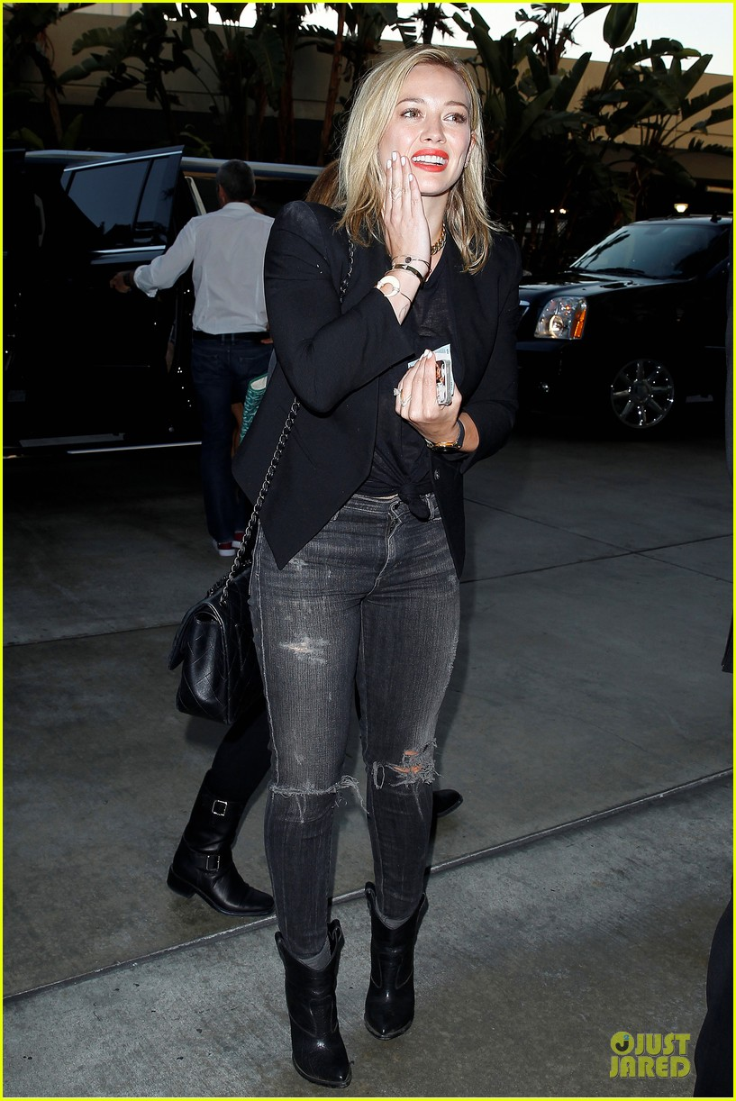 hilary duff sheer black at cher staples center concert 07