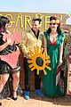 dita von teese flashes red bra in green dress 05