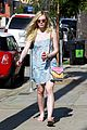 elle fanning switches casual chic outfits errands 23