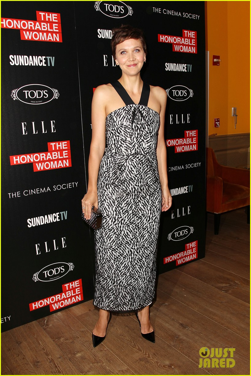 Maggie Gyllenhaal Makes Her 'Honorable Woman' Screening a Date Night ... Maggie Gyllenhaal