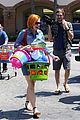 alyson hannigan debuts new bright red short hair 15