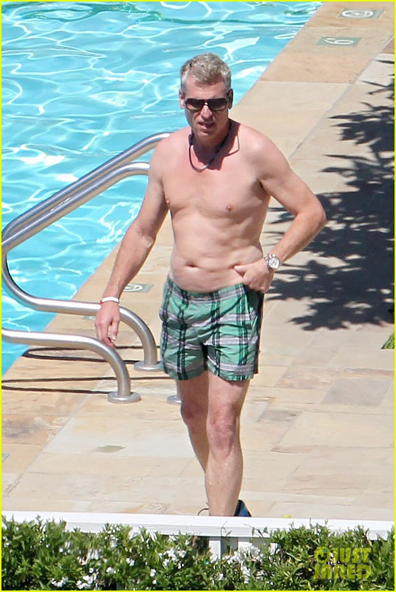joe simpson hits the pool with a much younger man 013150030