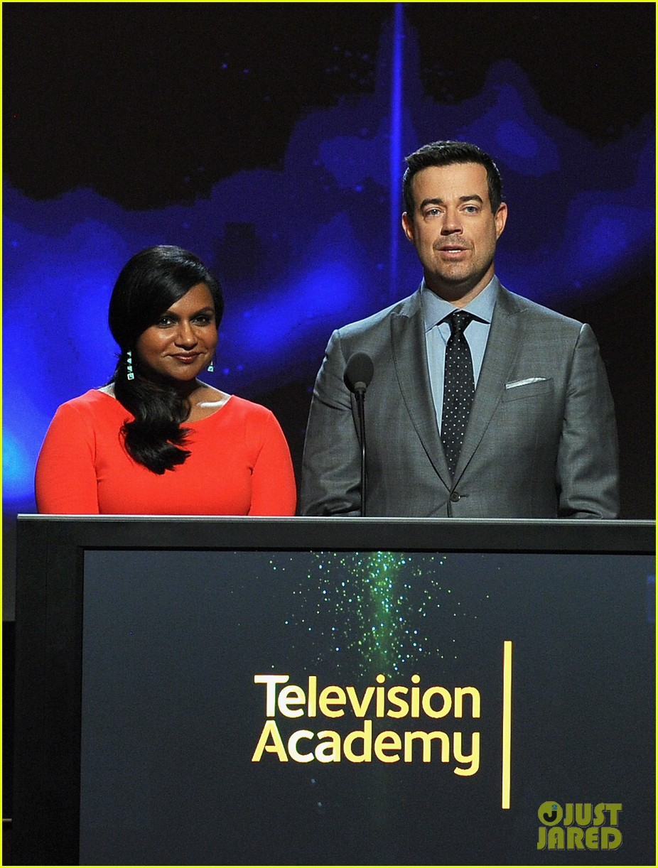mindy kaling carson daly announce the emmy nominations 2014 09