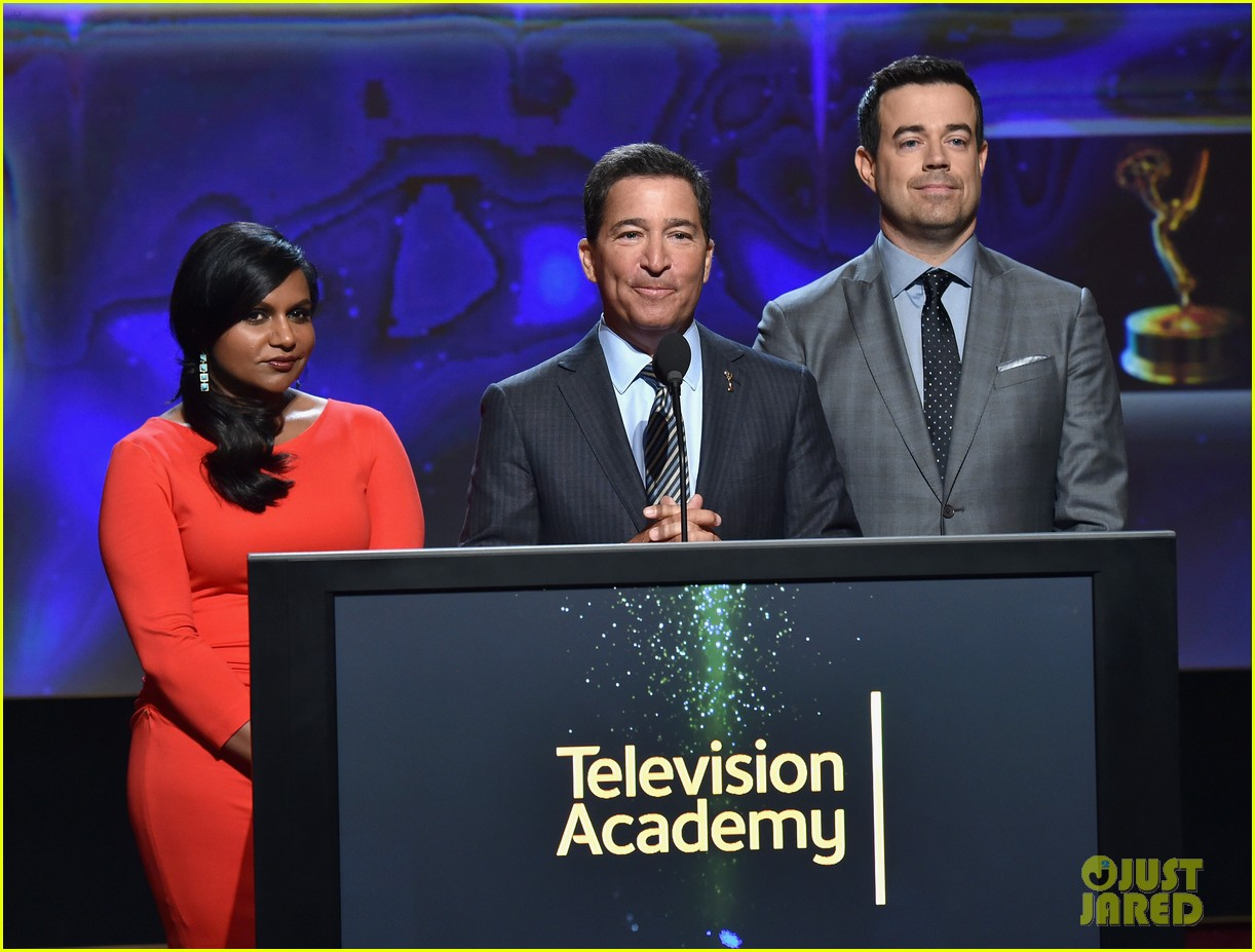 mindy kaling carson daly announce the emmy nominations 2014 10