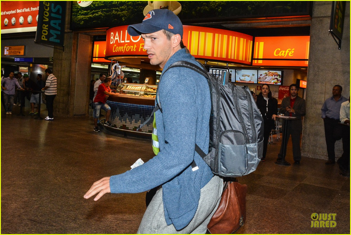 ashton kutcher gets ready for fifa world cup finals 21