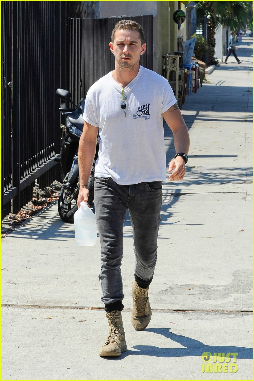 shia labeouf clean shaven looking healthy 083151083