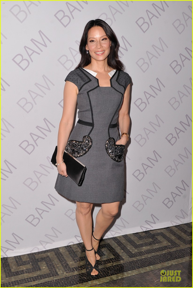 lucy liu shows support for bam education 01