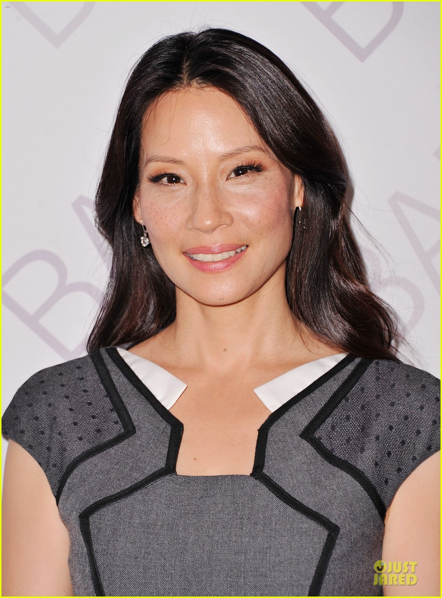 lucy liu shows support for bam education 08