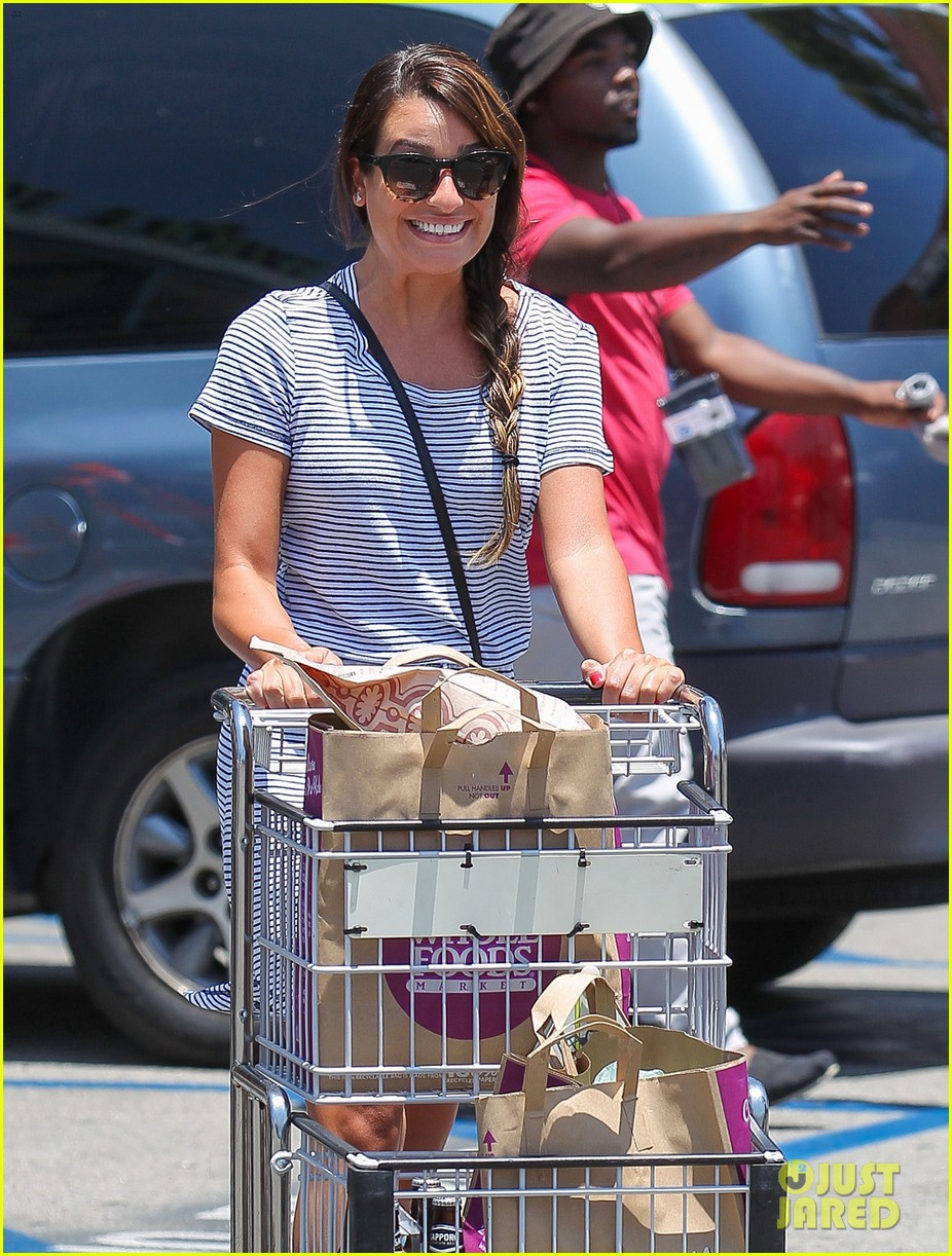 lea michele smiles wide after going public with new boyfriend 023149071