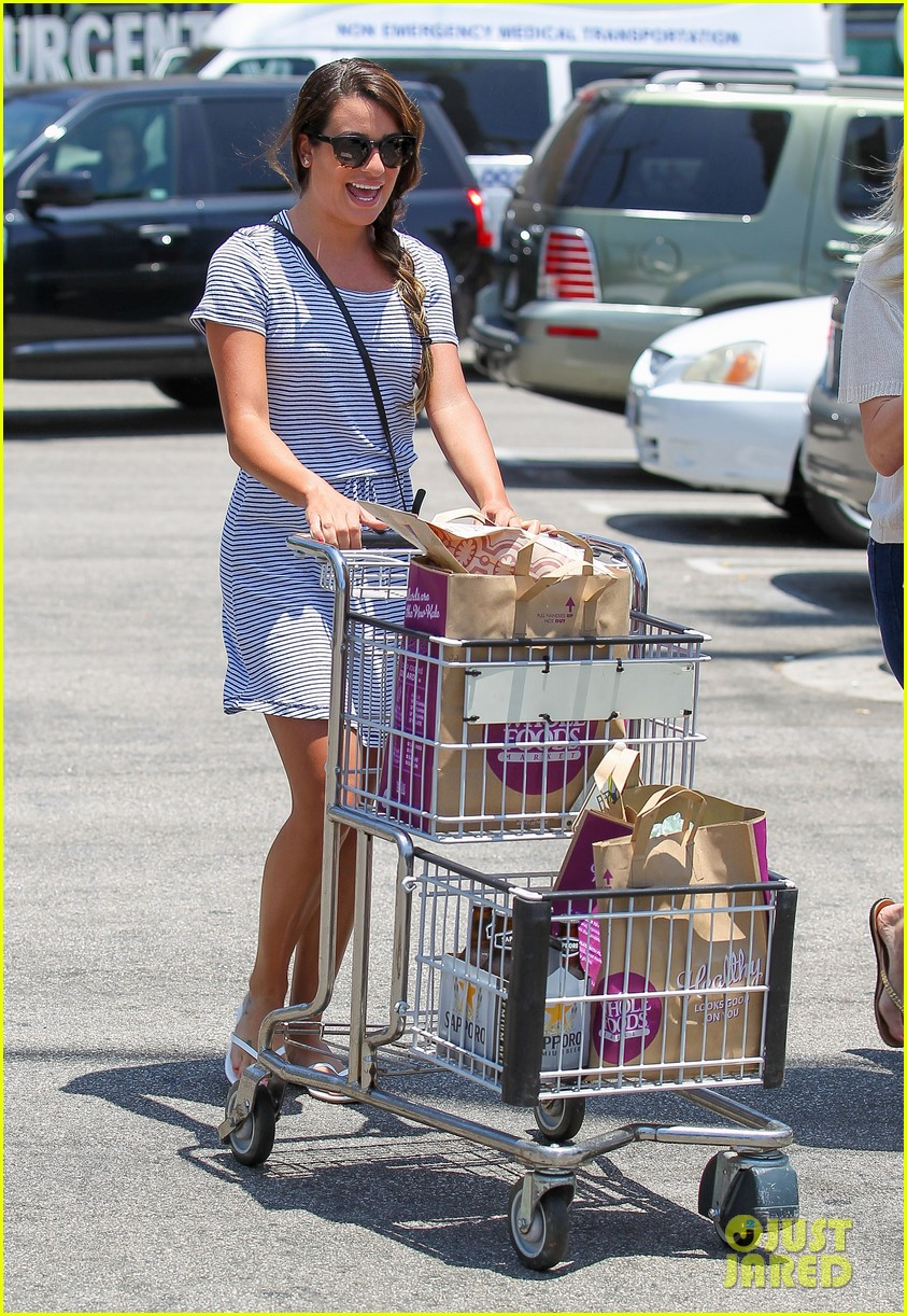 lea michele smiles wide after going public with new boyfriend 133149082