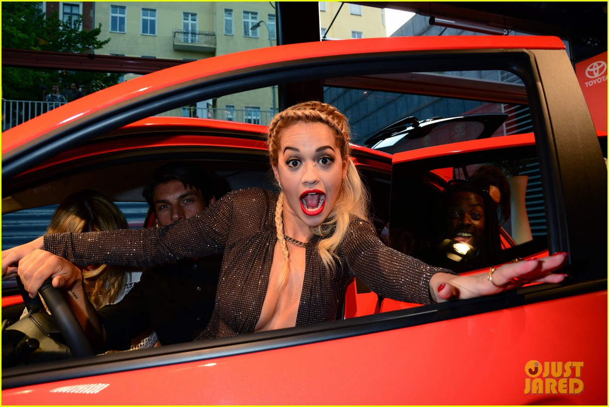 rita ora premieres the new toyota aygo in berlin 03