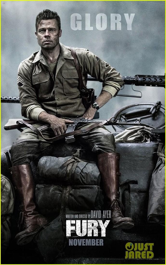 Fury brad pitt poster