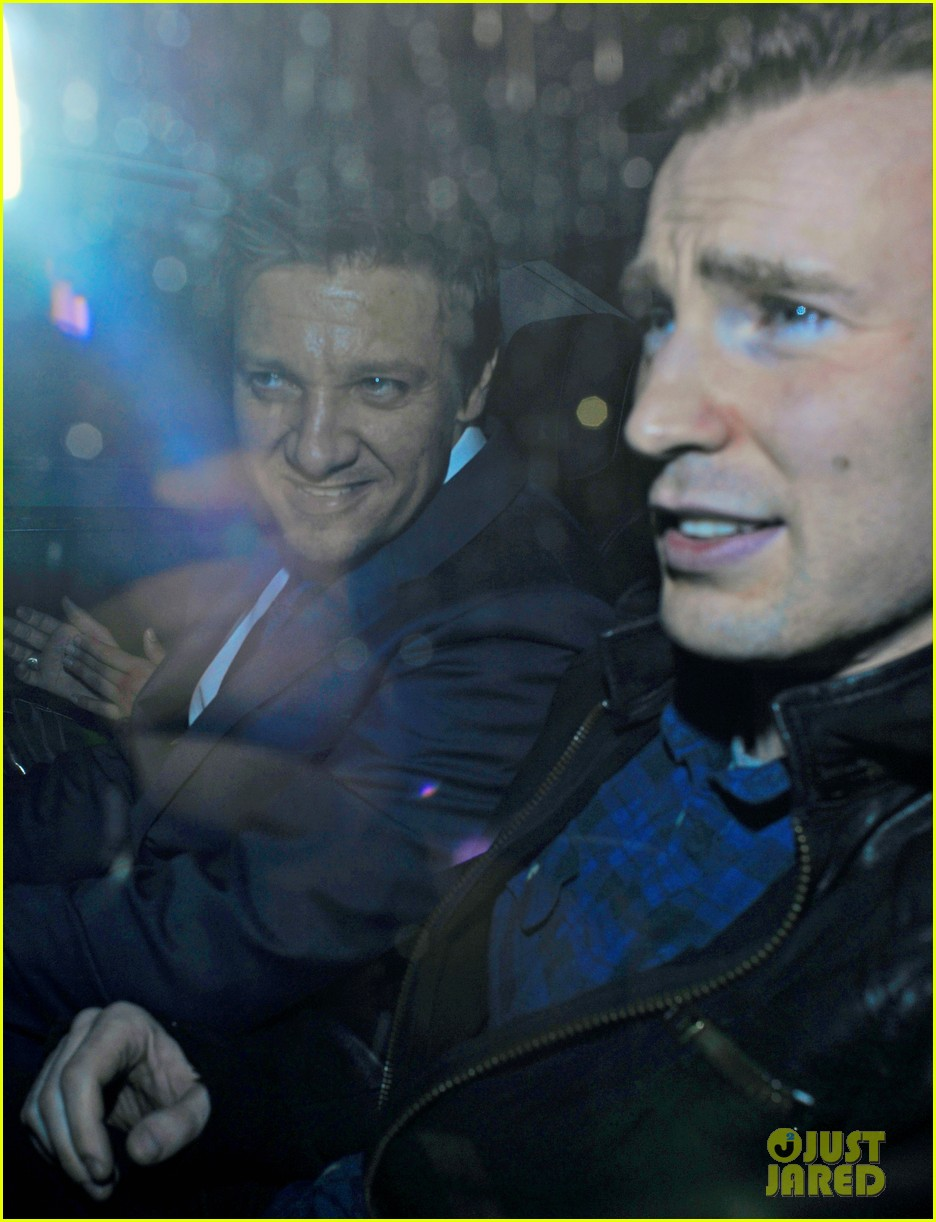 avengers unite chris evans jeremy renner hit the town in london 04