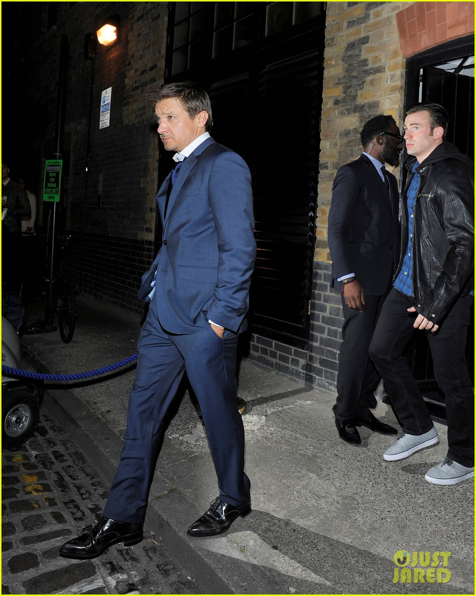 avengers unite chris evans jeremy renner hit the town in london 073153474