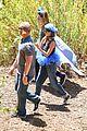 nicole richie rocks blue tutu overalls during hike 03