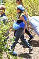 nicole richie rocks blue tutu overalls during hike 09