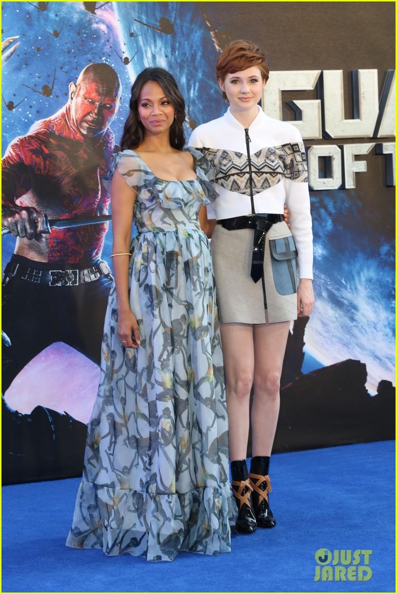 bb3f4d326fd92 zoe saldana wears billowy dress to hide baby bump at guardians uk premiere  11