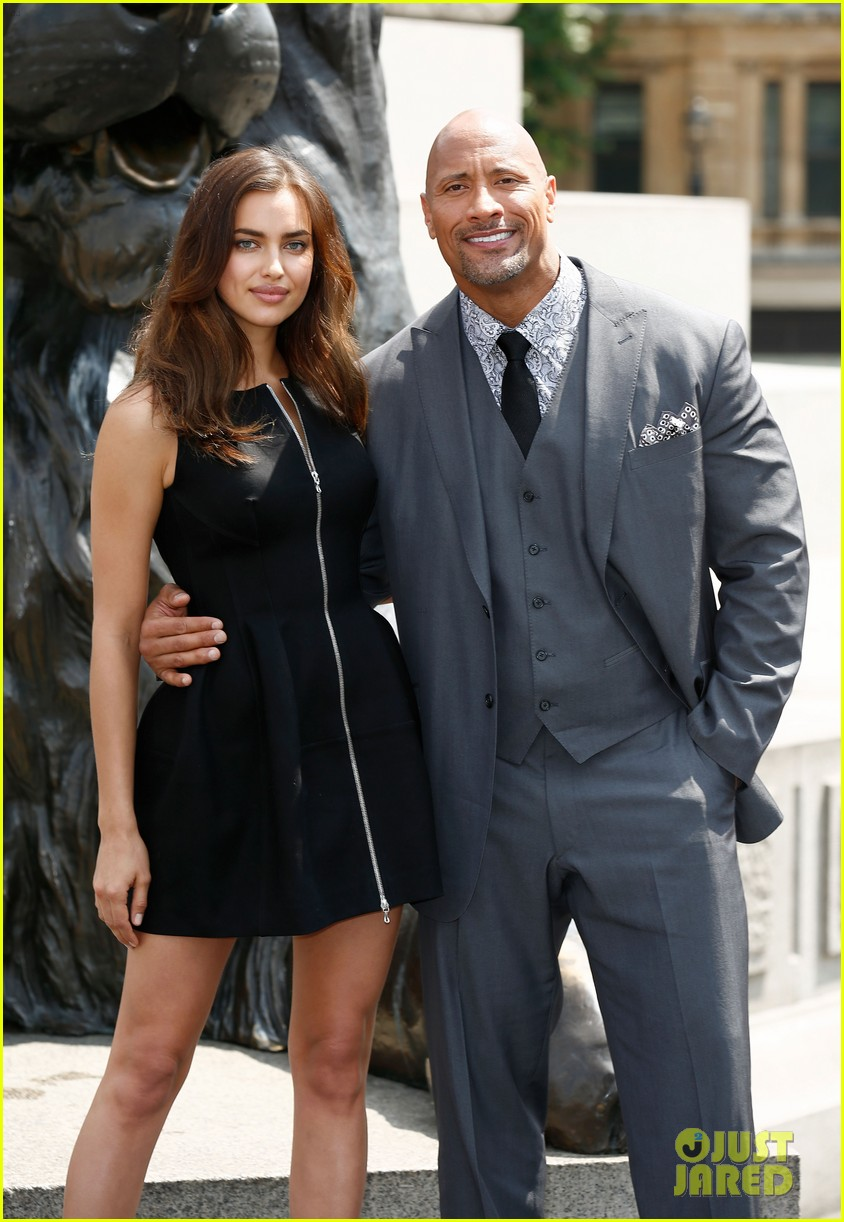 irina shayk dwayne johnson hercules photo call 063148279