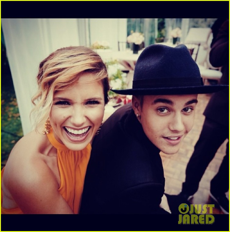 sophia bush catches up with pal justin bieber 03