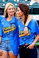 lily aldridge gigi hadid throw out first pitch at baseball game 02