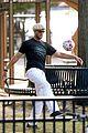 gisele bundchen tom brady play soccer at the park 03